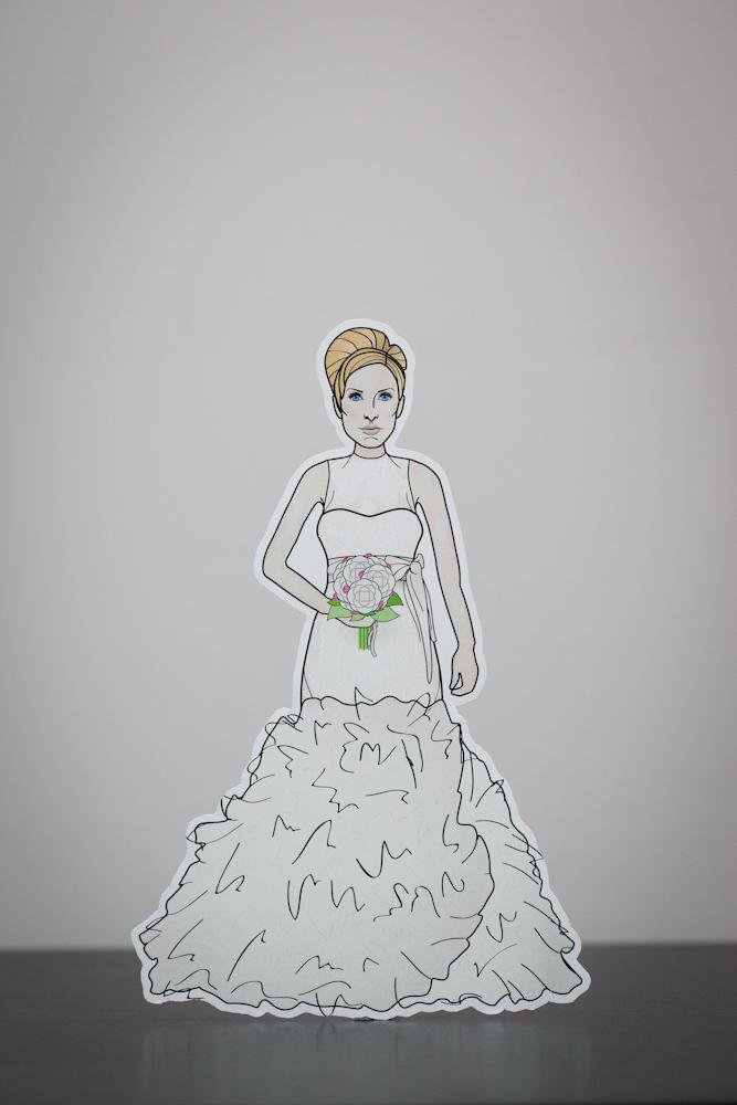 bride cake topper