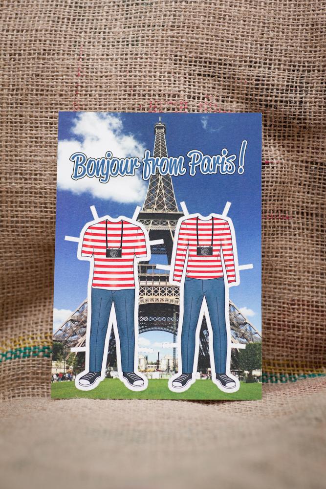 paris vacation postcard