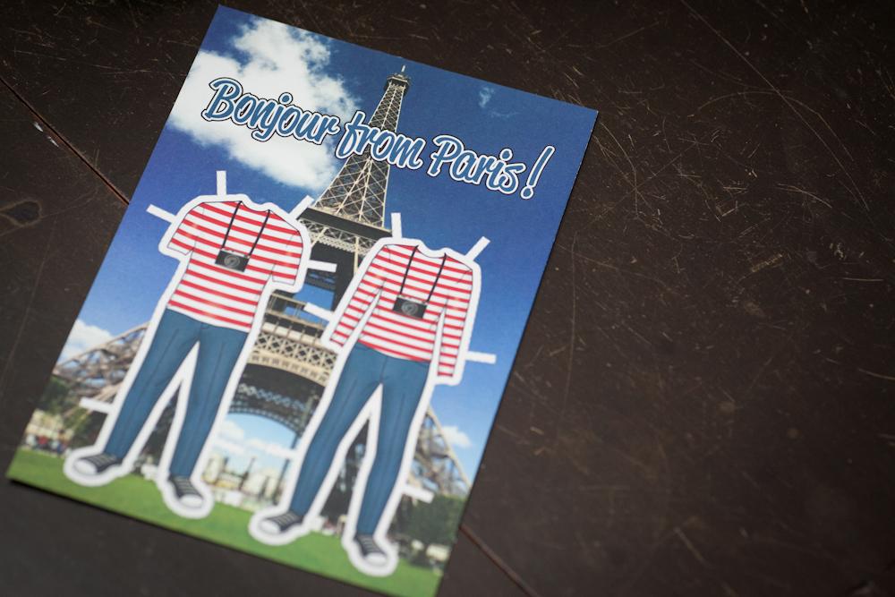 custom paris postcard