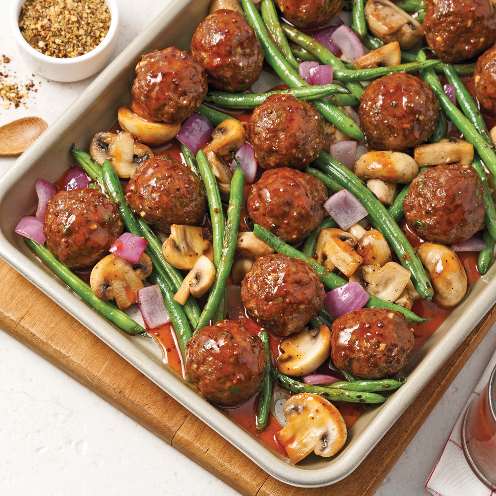 Boulettes De Boeuf Caramelisees 5 Ingredients 15 Minutes