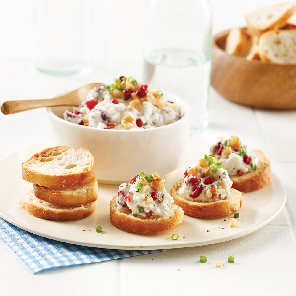 Croûtons fromage-canneberges