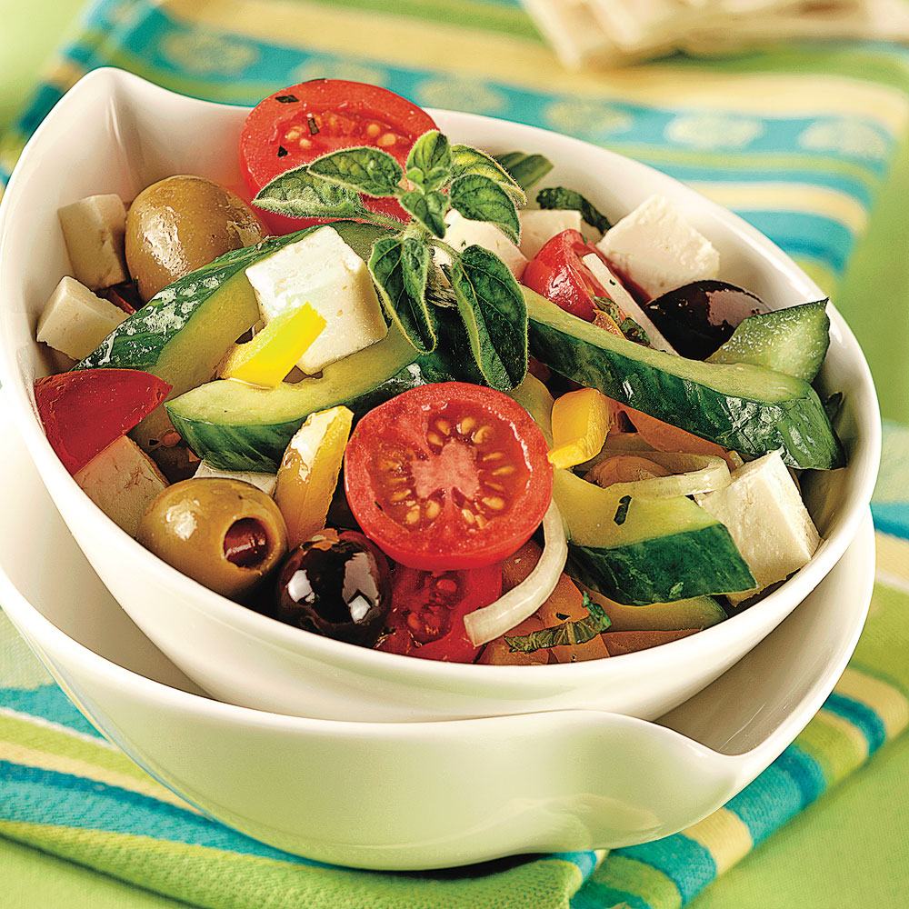 Salade grecque - 5 ingredients 15 minutes