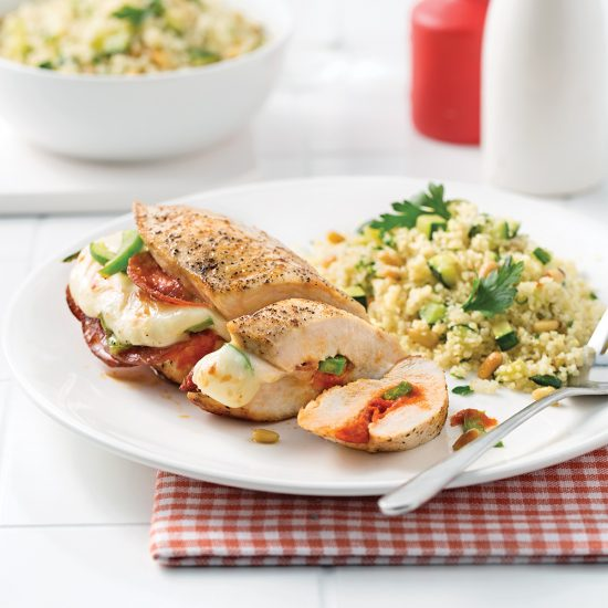Pizza-stuffed Chicken Breasts