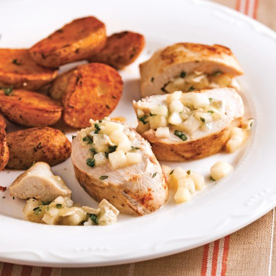 Goat Cheese and Pears Stuffed Chicken Breasts