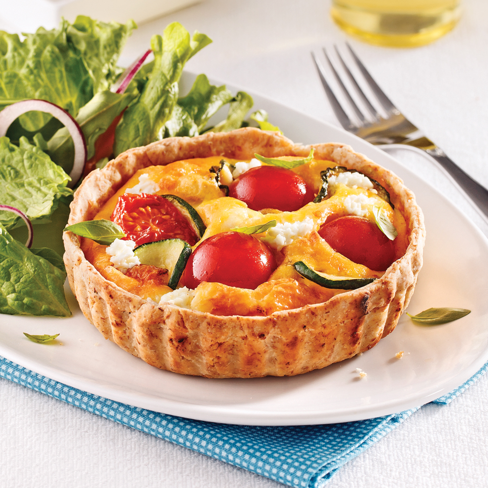 mini quiches aux tomates courgettes et fromage de ch vre les recettes de caty. Black Bedroom Furniture Sets. Home Design Ideas
