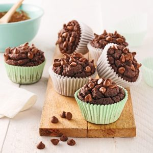 Muffins-brownies aux pois chiches