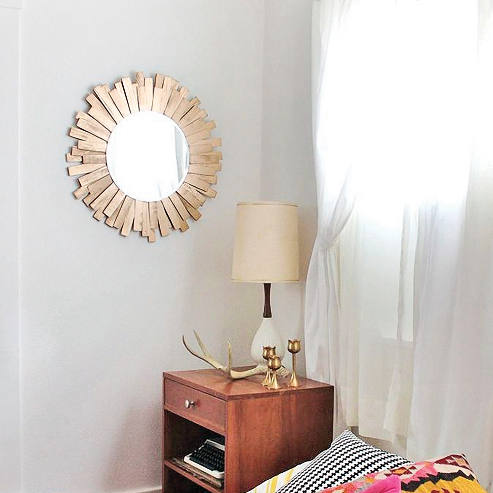 diy miroir soleil dor je d core. Black Bedroom Furniture Sets. Home Design Ideas