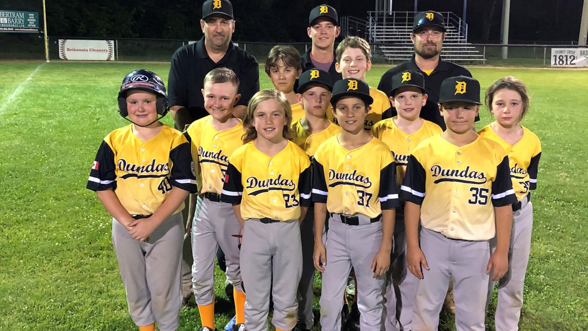 The Dundas Minor All-Star Team, had a great experience, playing in the Minor District Tournament in Stoney Creek from July 12-18.