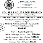 Register for the 2019 House League Season Online and Save!