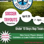 U13 York Jets SC Tryout Information