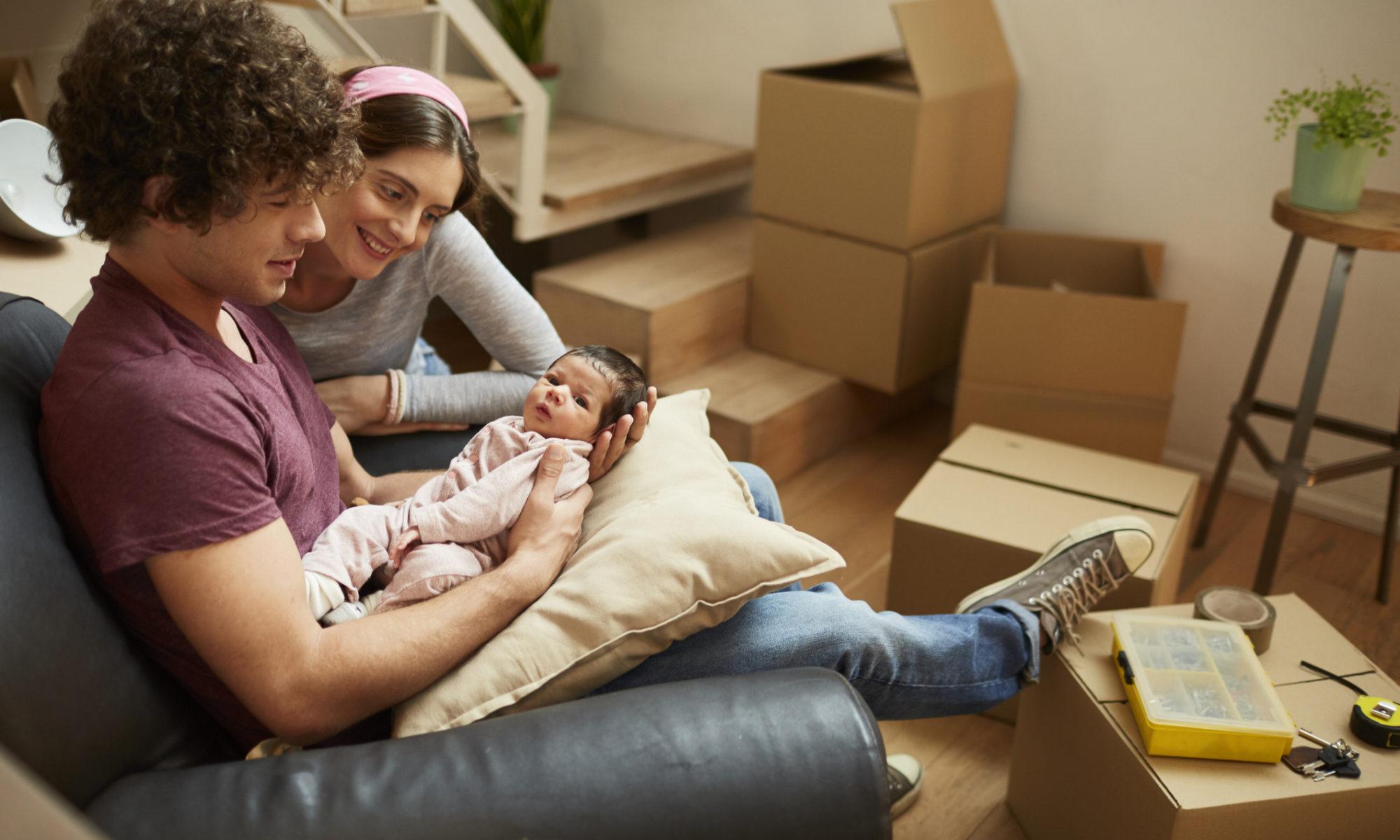 déménager avec votre nouveau-né - photo