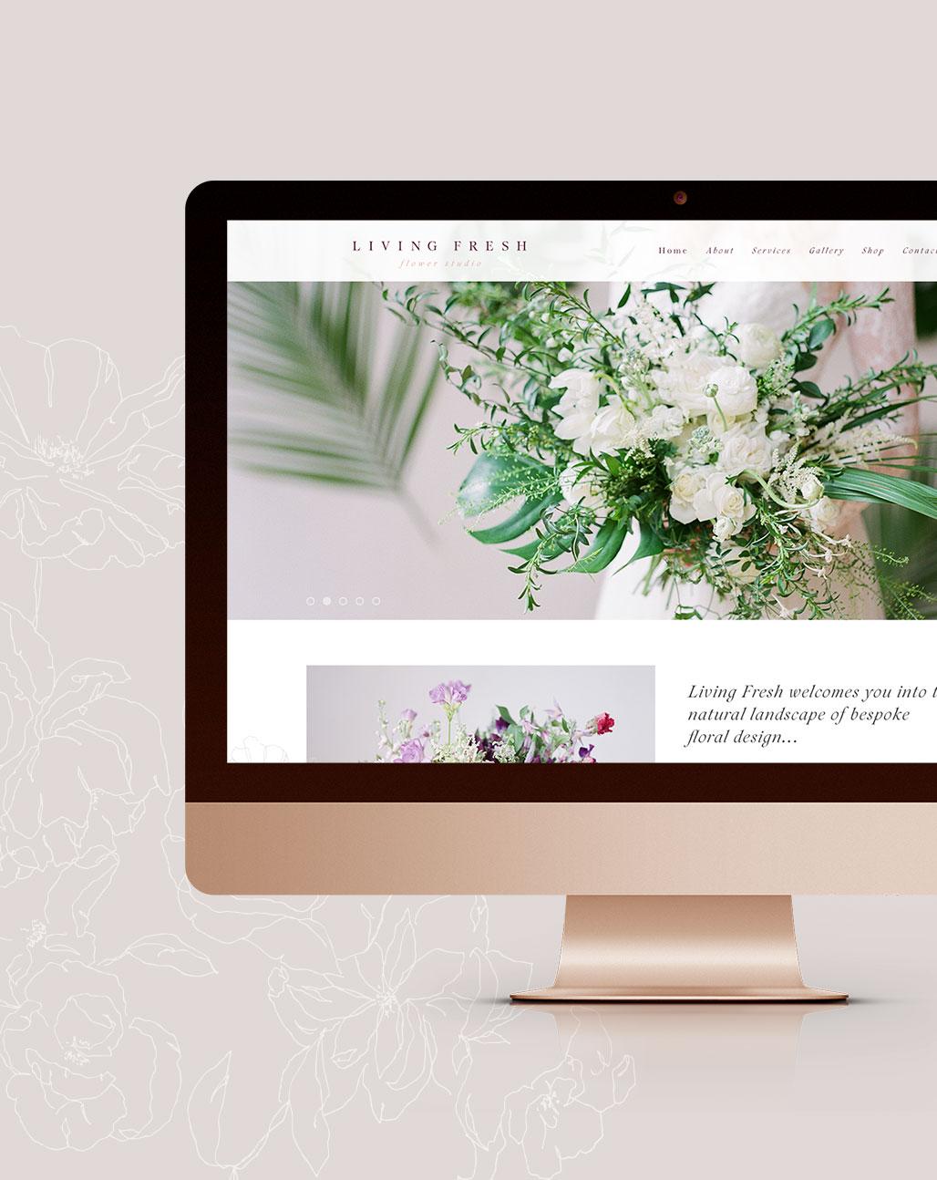 Living Fresh Brand Launch   Ashley and Malone Design