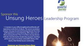 Unsung heroes postcard