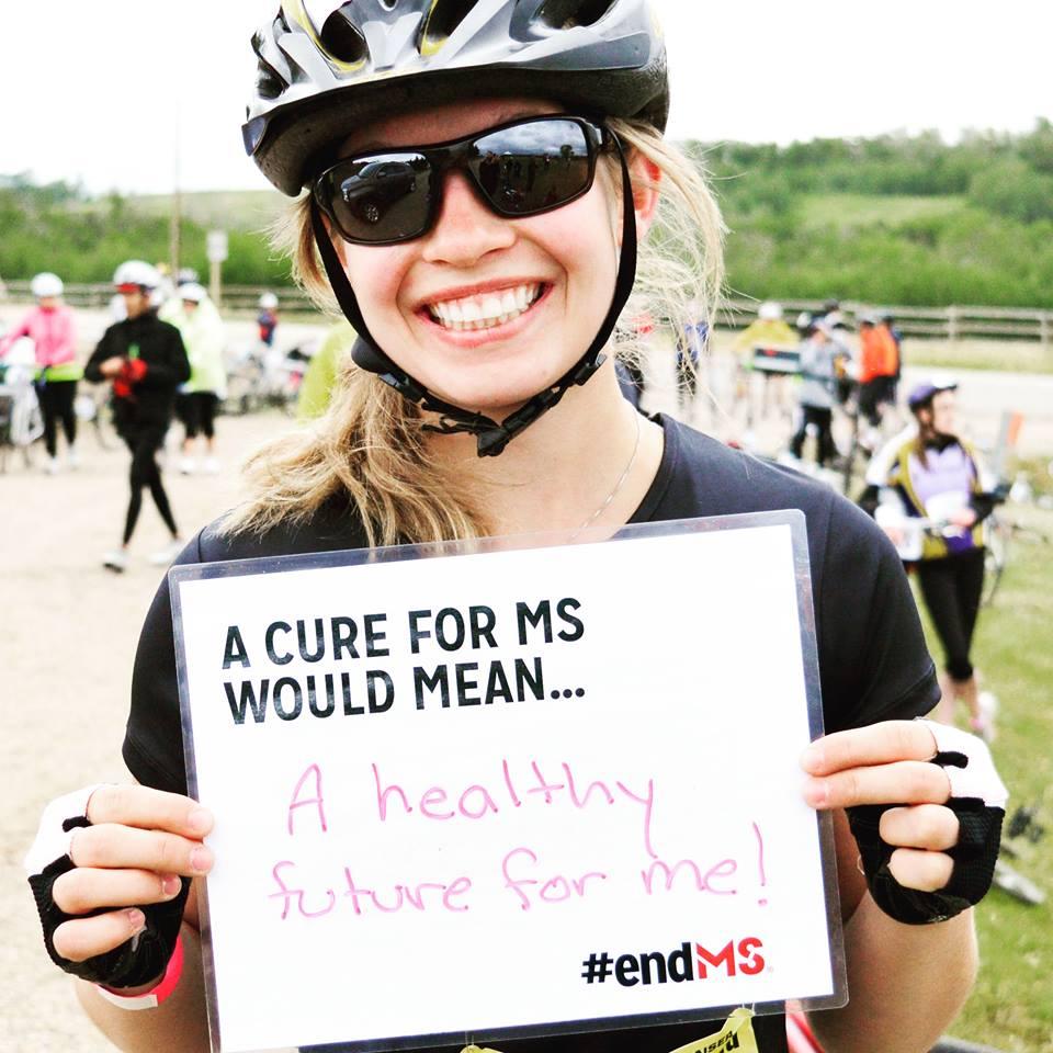 Darcie Naslund's, who also rode in the Johnson MS Bike Tour – Leduc to Camrose.