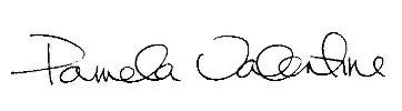 Pam Valentine signature