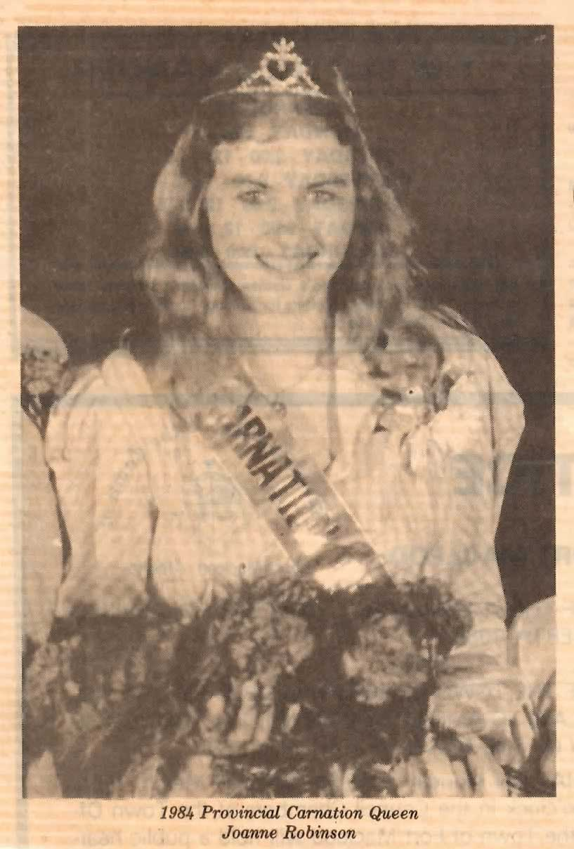 Joanne Robinson as Carnation Queen