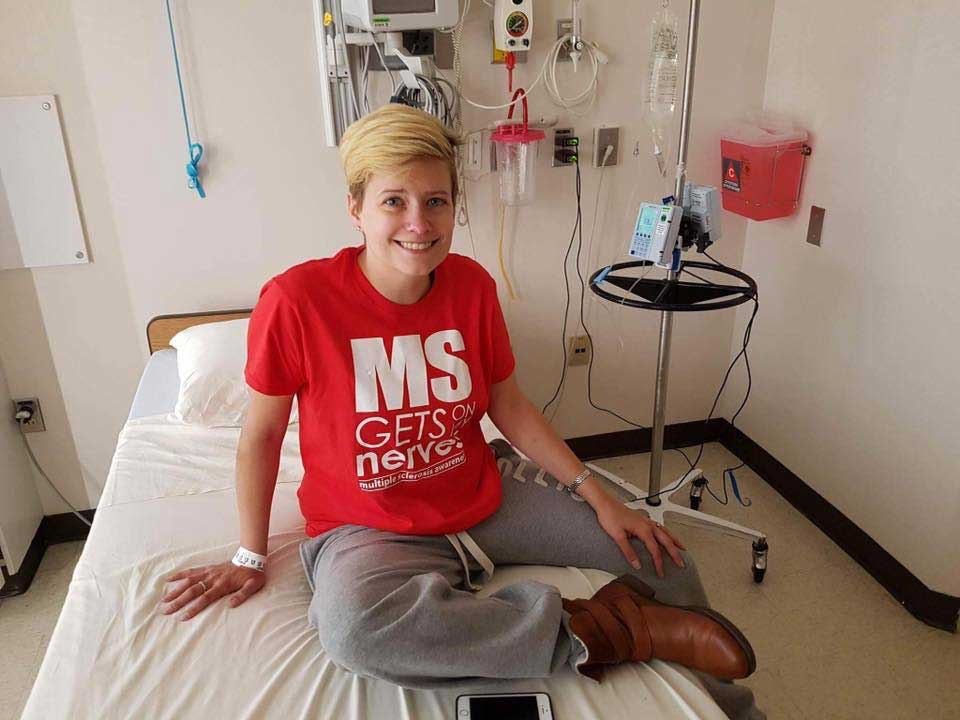 Brooke at a hospital