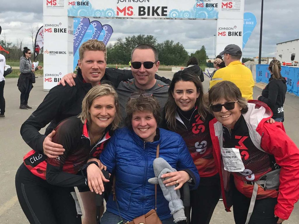 Alli and family at MS Bike