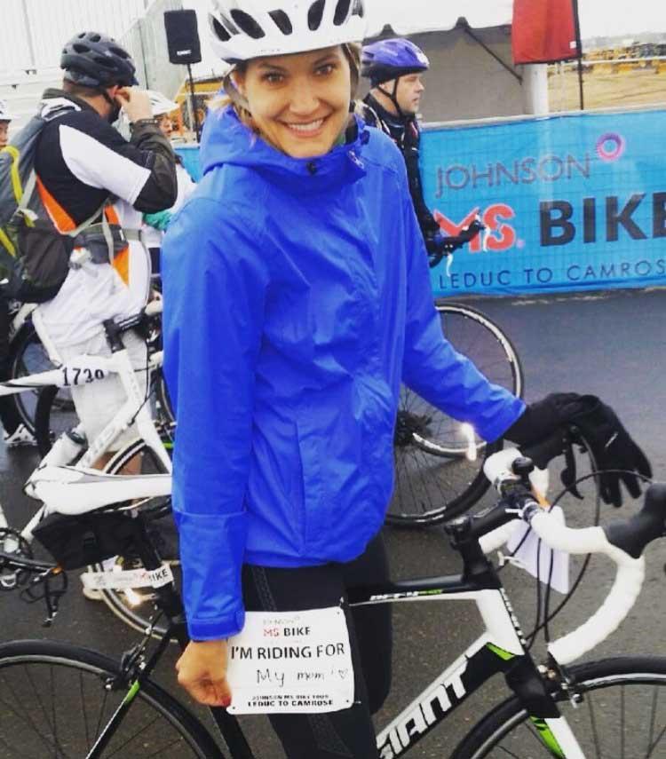 Alli on her bike at MS Bike