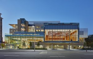 The six-storey David Braley Health Sciences Centre is located on a prominent downtown site across from Hamilton City Hall. Photo: Shai Gil