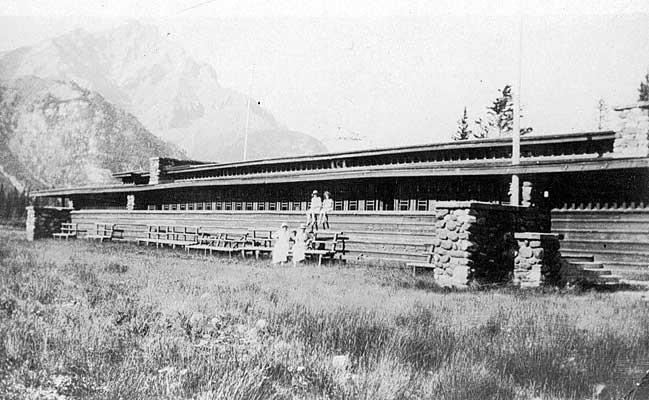 Frank LLoyd Wright's Banff Pavilion circa 1920, image via Alberta Archives