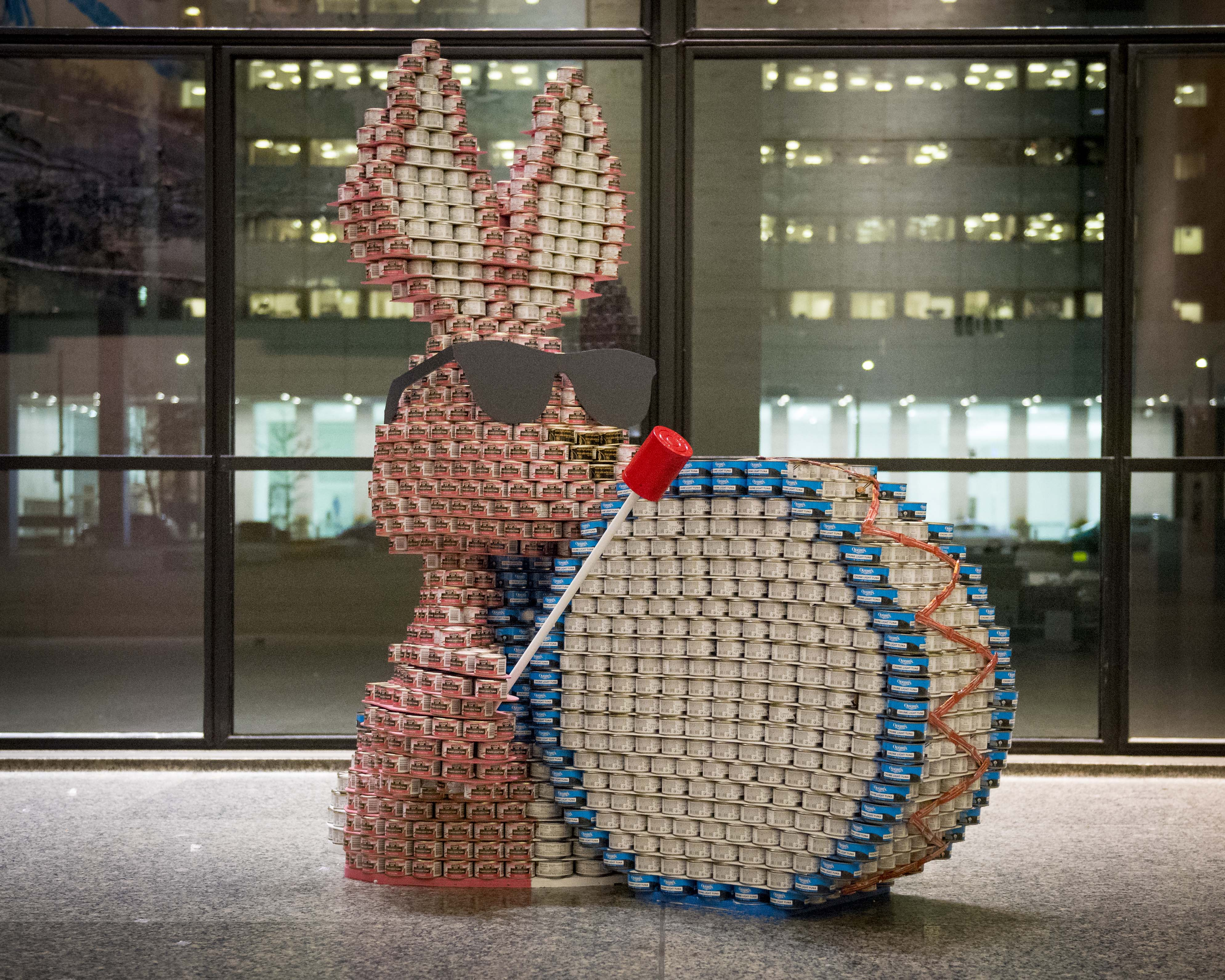 ENERGIZED to End Hunger by Walsh Canada. Photo by David Crowder Photography. Canstruction