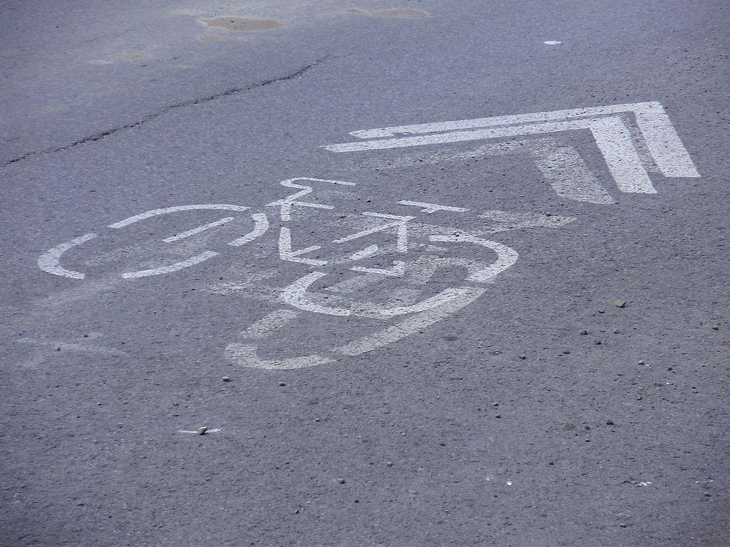 Bicycle sharrows