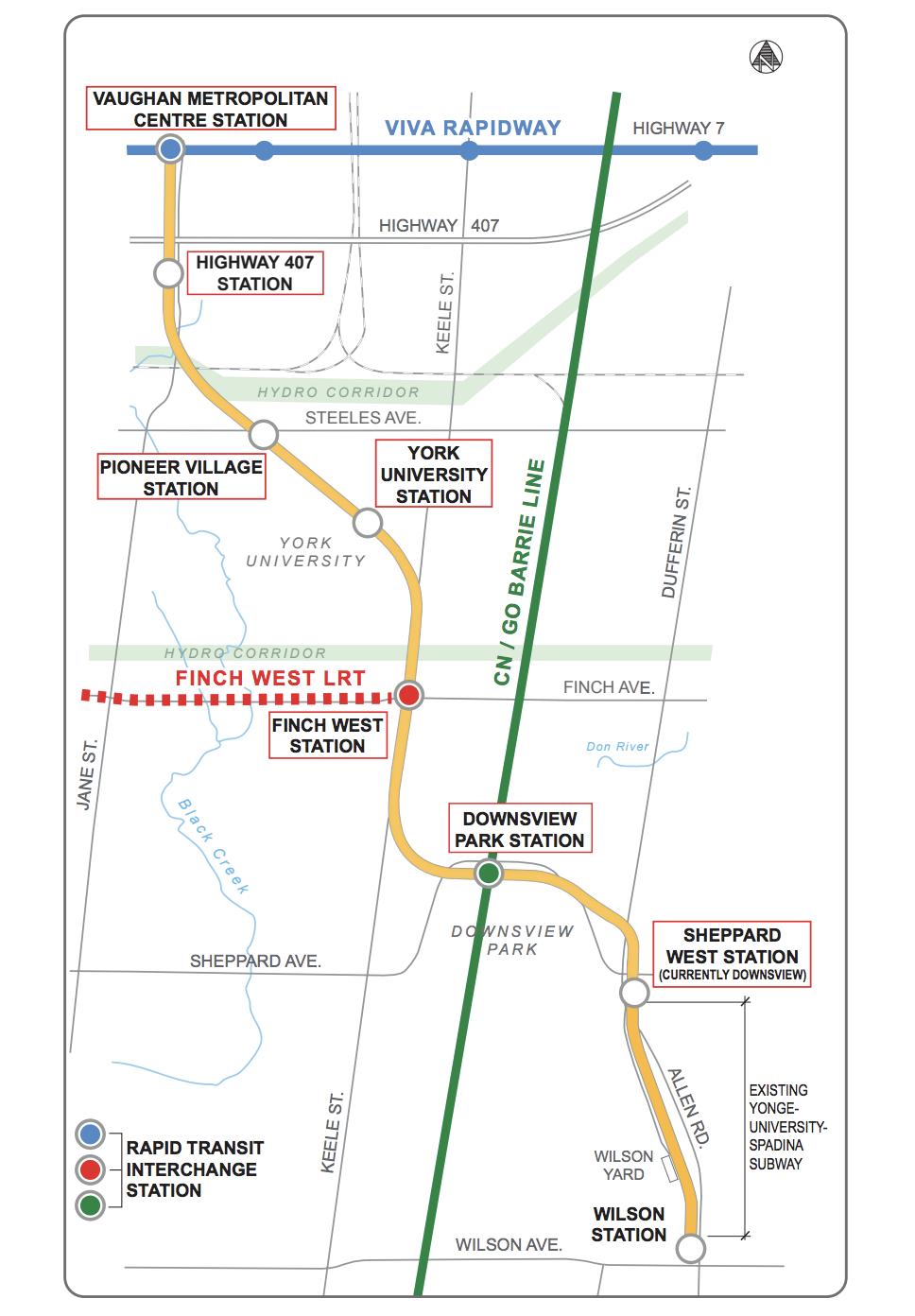 TTC, TYSSE route map