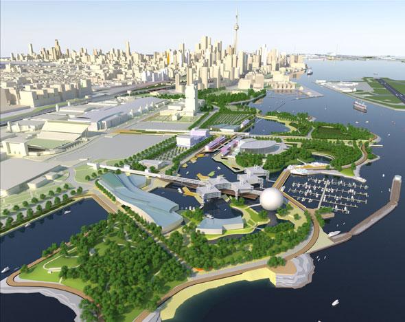 Ontario Place master plan. Image via Province of Ontario.