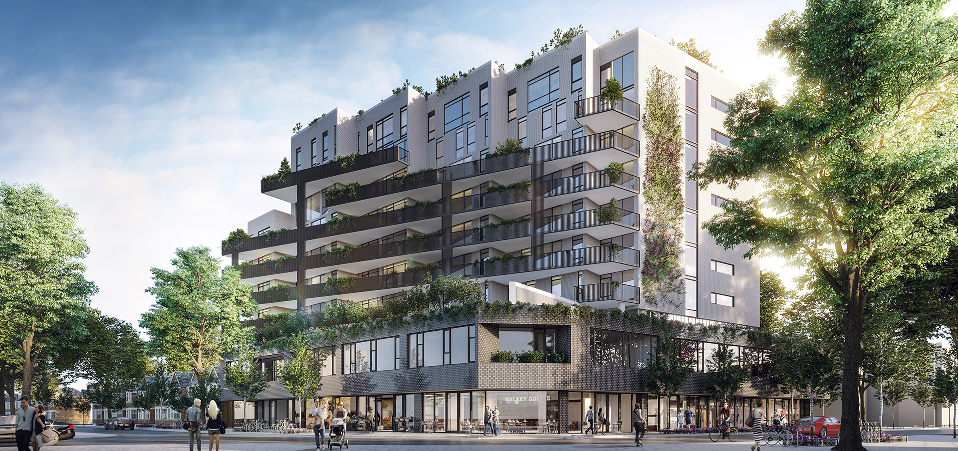 The Plant is a mixed-use condo designed according to the same One Planet Living principles guiding Windmill's Zibi project in Ottawa, with an emphasis on residential urban agriculture. Image via TAS