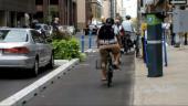 Bike lane in downtown Ottawa. Image via City of Toronto