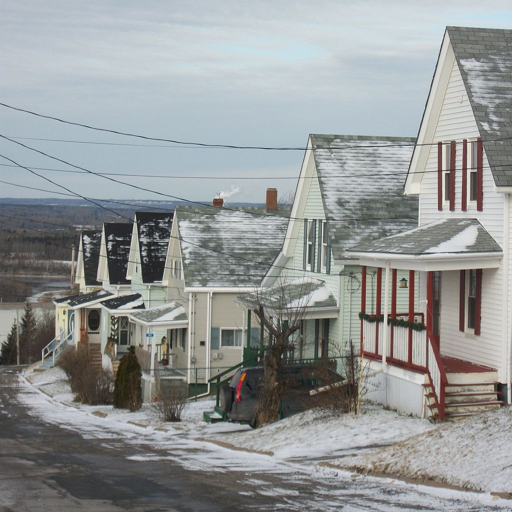 Albion Street in the town of Trenton, Nova Scotia, which is home to the troubled DSME Trenton wind tower plant. Photo by Verne Equinox via Wikimedia Commons.