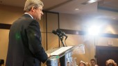Prime Minister Stephen Harper delivers a speech to the Newfoundland and Labrador Construction Association.