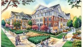 Artist's rendering of the residential area in the finished project.