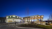 """The Corix Langley Gateway facility, designed by Wesgroup and named """"Industrial Development of the Year"""" at the 2012 NAIOP and Business in Vancouver Commercial Real Estate Awards of Excellence."""