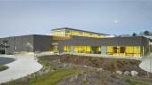 A multi-purpose recreational and cultural centre designed by Diamond Schmitt Architects in joint venture with Lydon Lynch Architects has opened in Bridgewater, Nova Scotia.