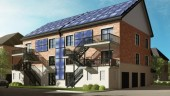 Rear Elevation Rendering of Construction Voyer's Net Zero Energy Project in Laval, Quebec