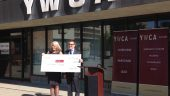 Photo – Sue Tomney, CEO YWCA of Calgary and Christopher Wein, President Great Gulf.