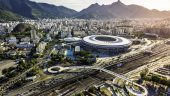 Aerial photo of Maracana Stadium in Rio De Janeiro (taken February 2015), where the opening and closing ceremonies of 2016 Olympic Games are held.