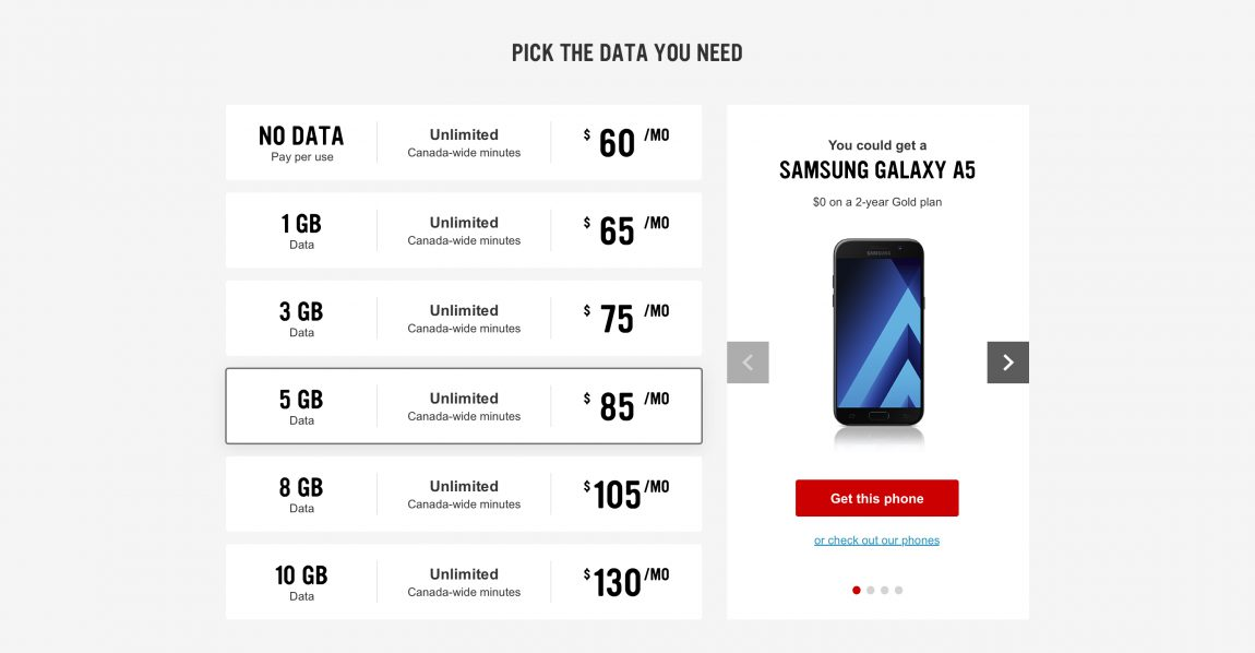 Data plans - Virgin Mobile