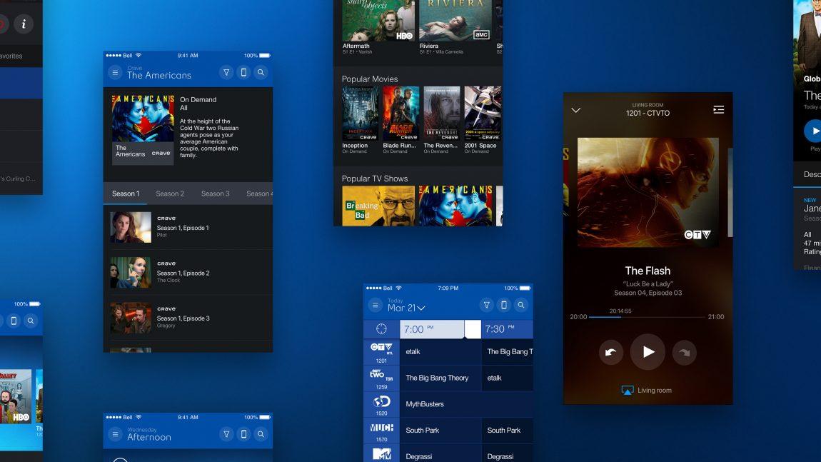 GUI Fibe TV App