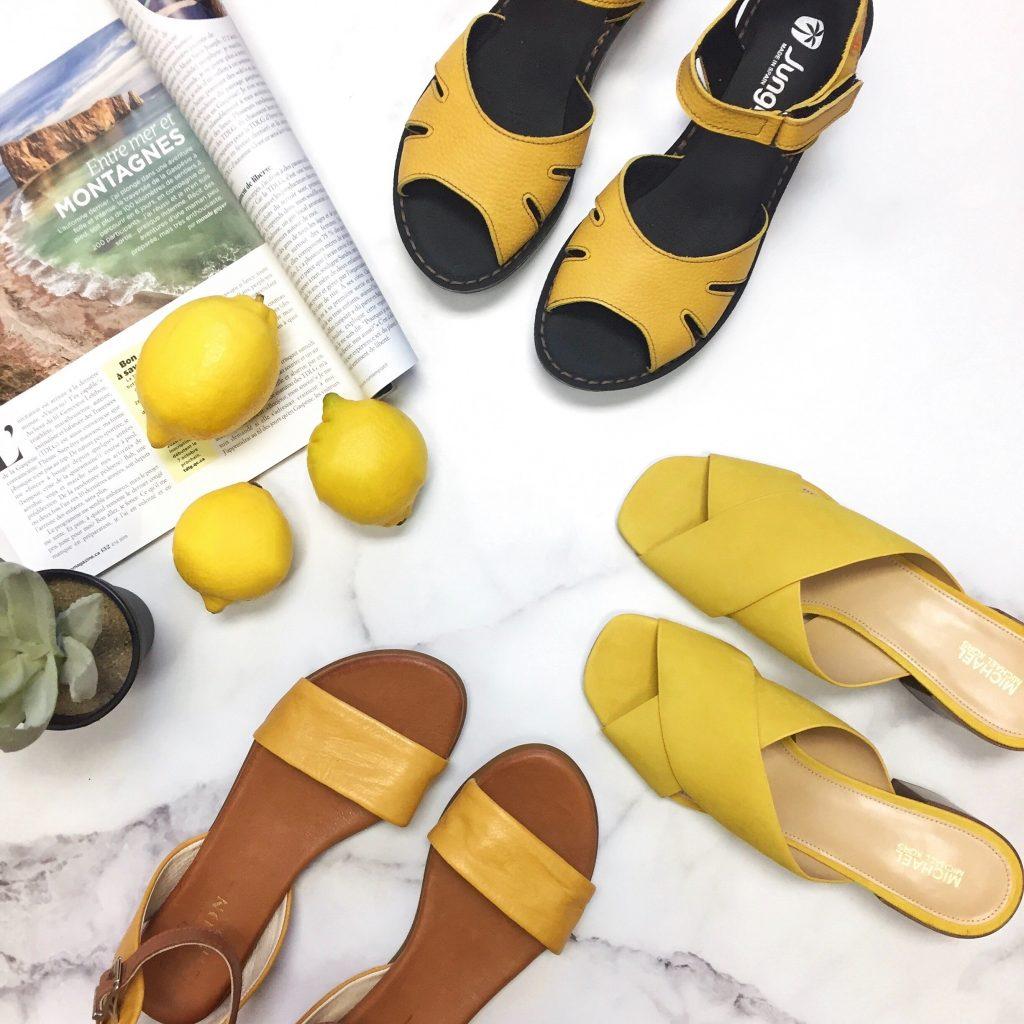 tendances ete 2019 sandales jaunes