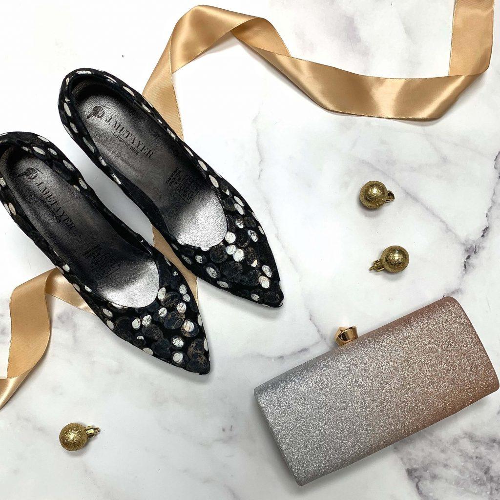 Chaussures en cuir Metayer Yeta noires pour femmes
