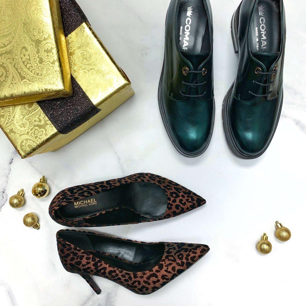 Chaussures Michael Kors Keke Mid Pump leopard chaussures en cuir Import Bulle vertes pour femmes