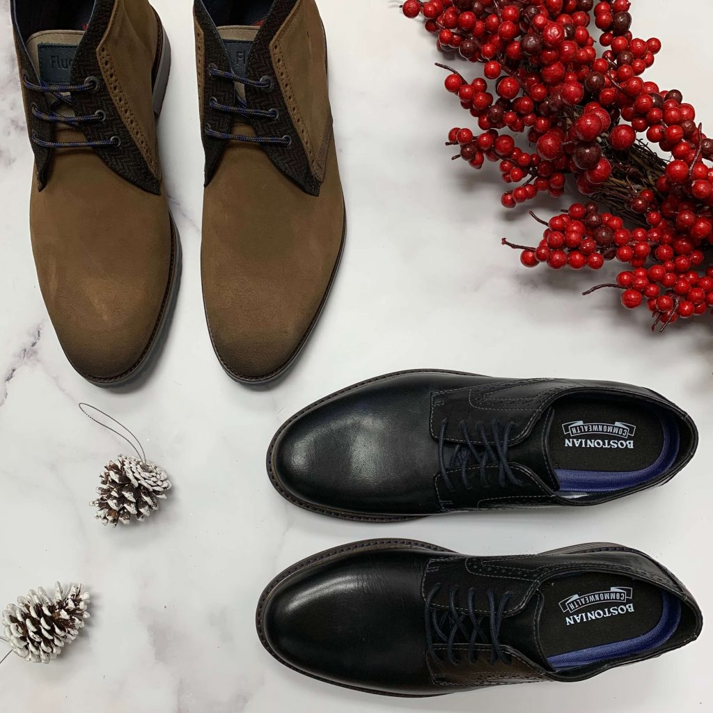 Bottillons en cuir Fluchos tan chaussures en cuir Bostonian Shoes Maxton Plain noires pour hommes