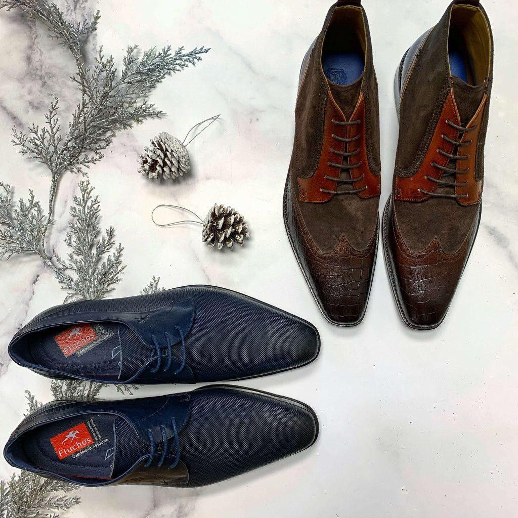 Chaussures en cuir Fluchos marine chaussures en cuir Import Bulle brunes pour hommes