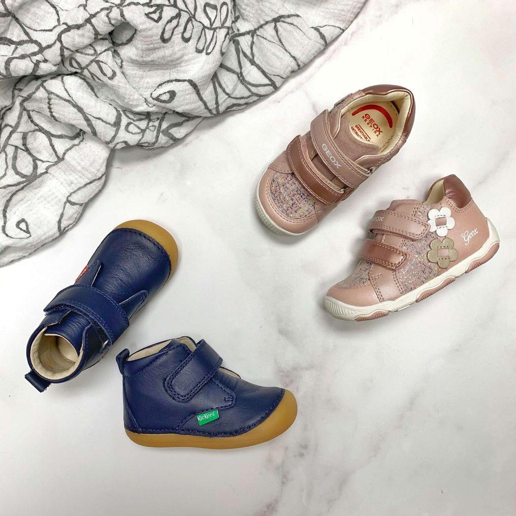 Bottines pour bébés Kickers et Geox