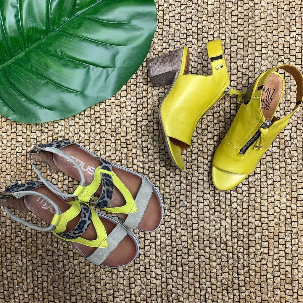 Chaussures jaunes fluo pour femmes