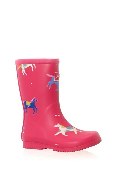 Joules ROLL UP WELLY Rose