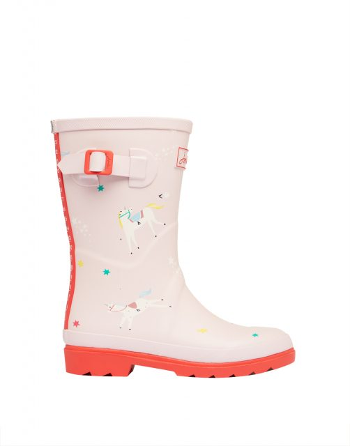 Joules JNR WELLY PRINT Rose